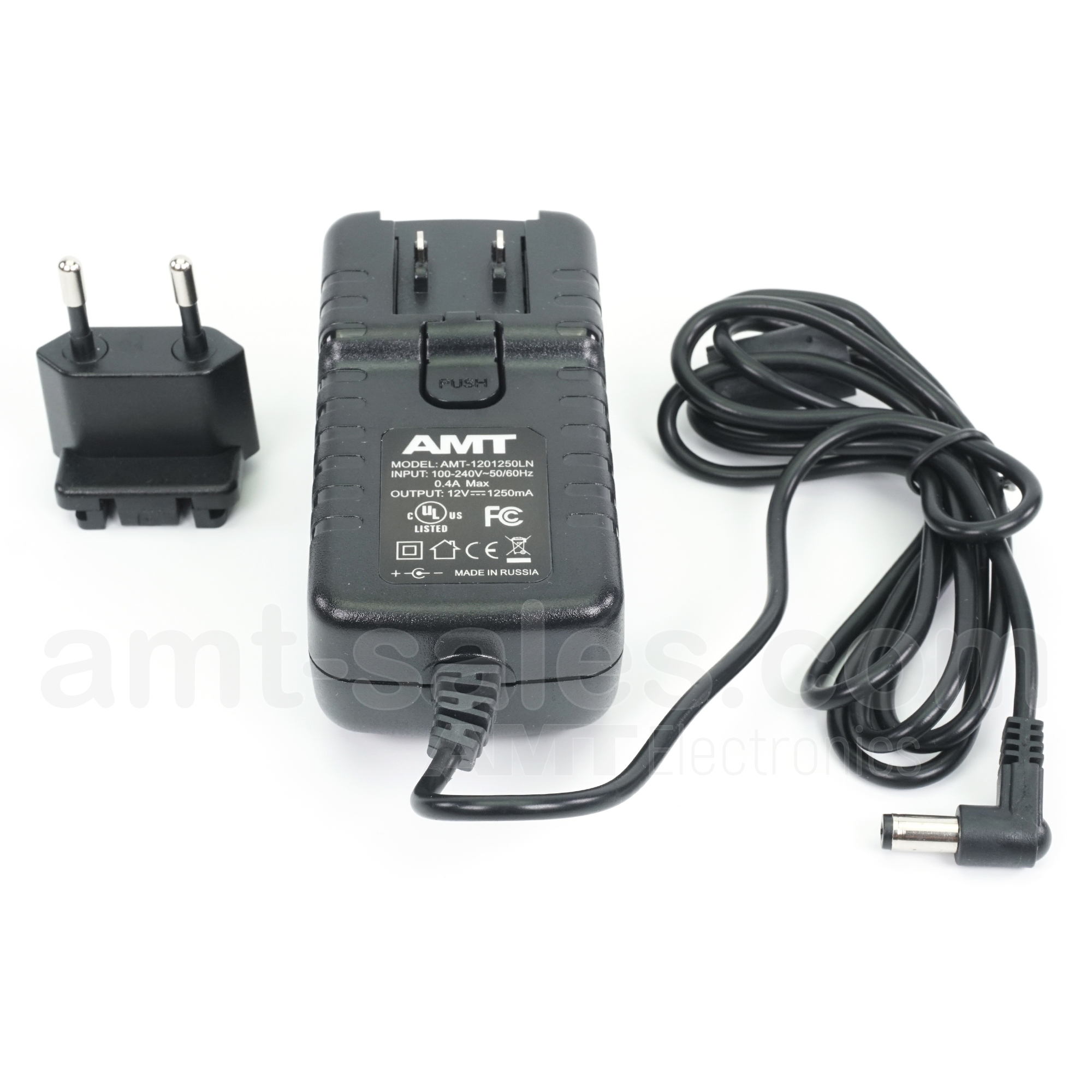 AMT DC 12V, 1.25А AC/DC - Noiseless AC/DC Adapter