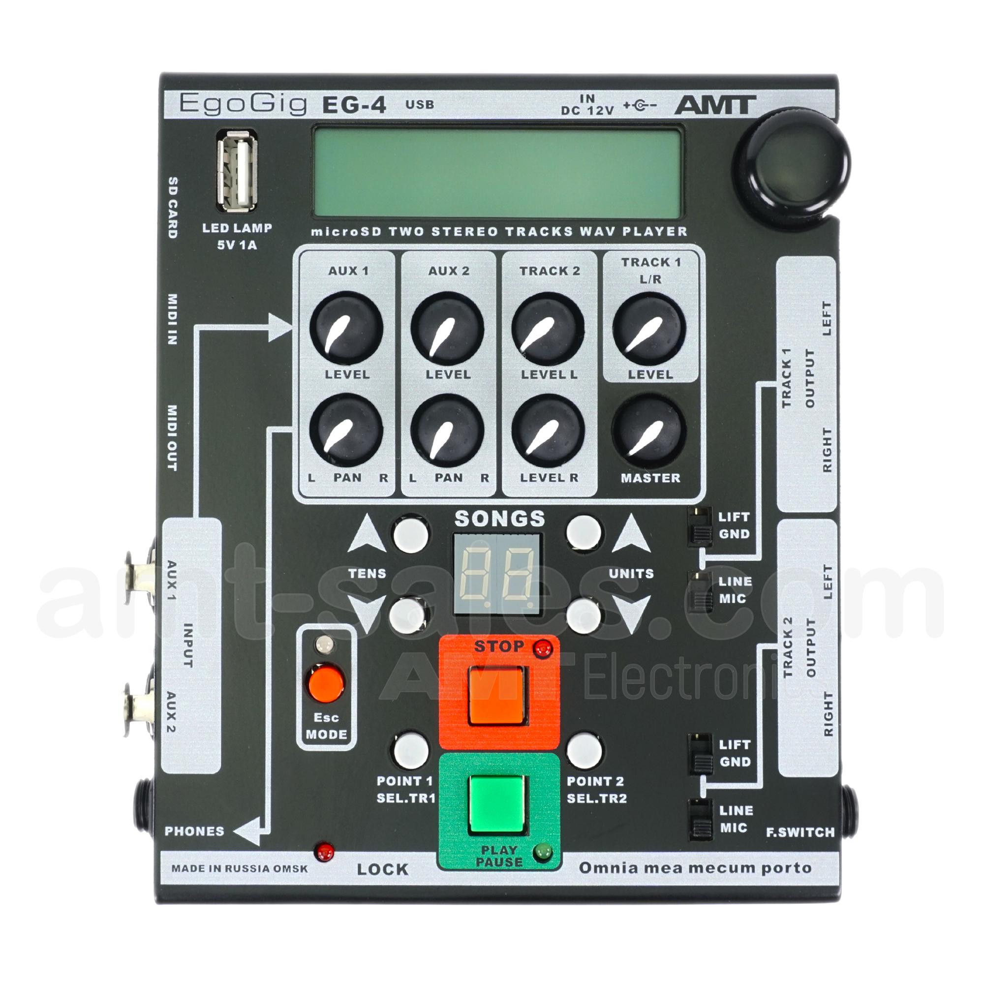 AMT EgoGig EG-4 - 4-channel WAV Player & monitor mixer