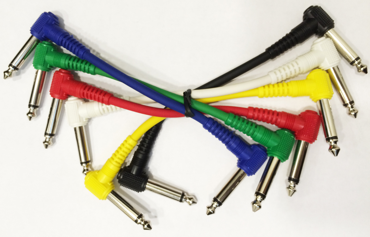 15 cm - Guitar Cable (patch) - 1 cable jack-jack (angled)