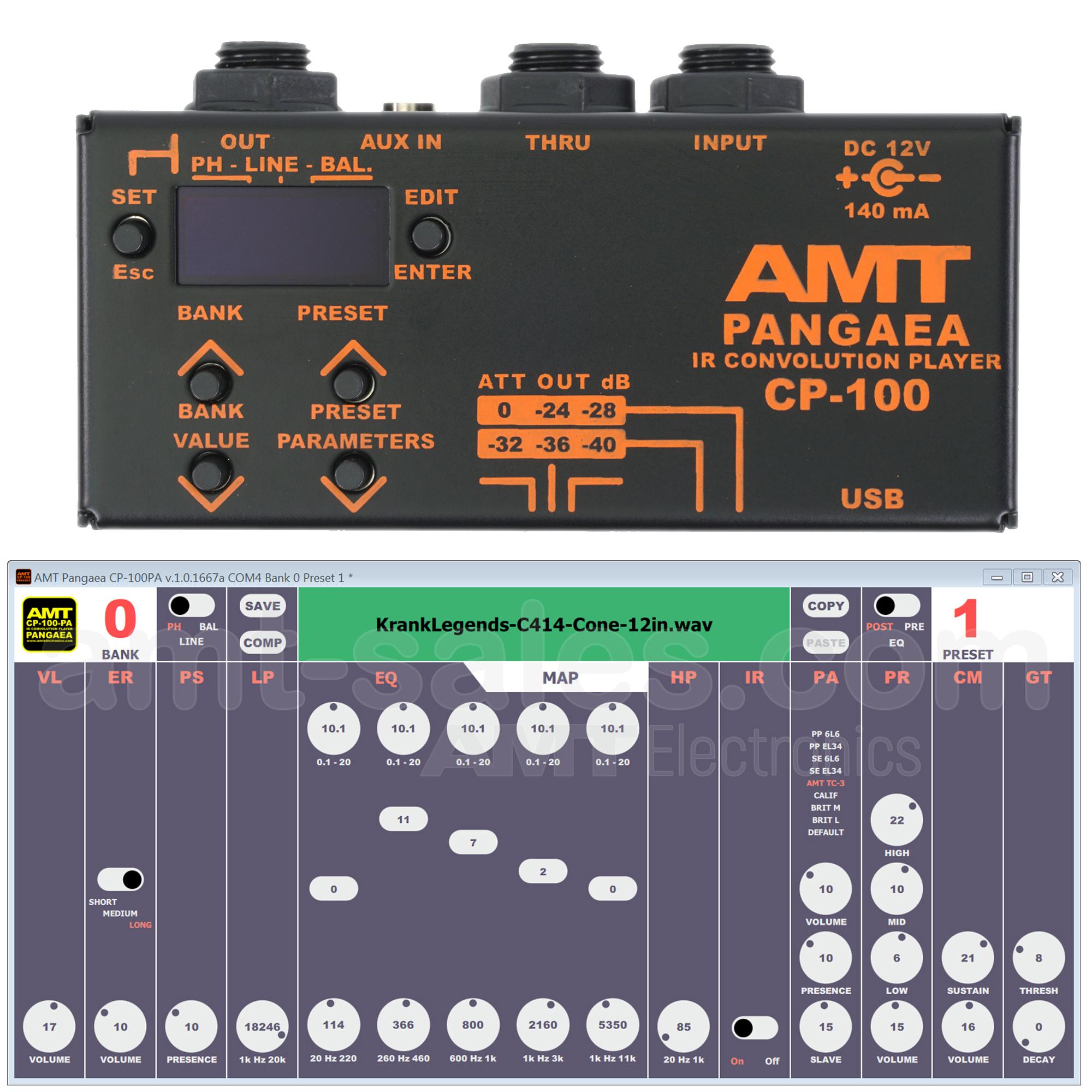 AMT PANGAEA CP-100 - IR-player Cabinet Emulator