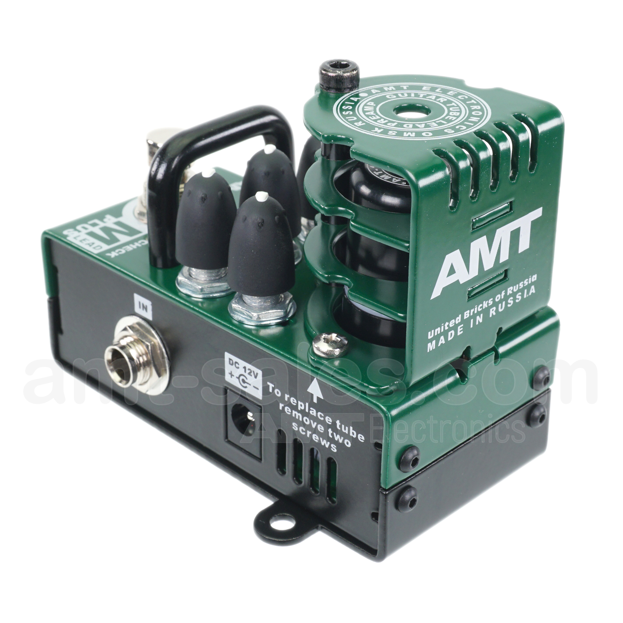 AMT Bricks M-Lead PLUS - 1 channel tube guitar preamp (JCM800 Mod Emulates)