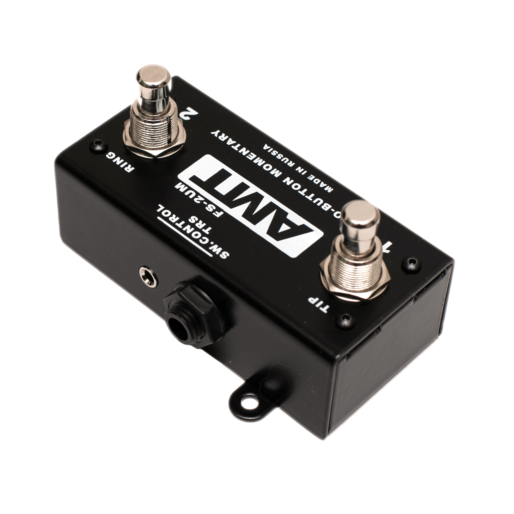 AMT FS-2UM - silent mini footswitch with momentary (unlatched) buttons