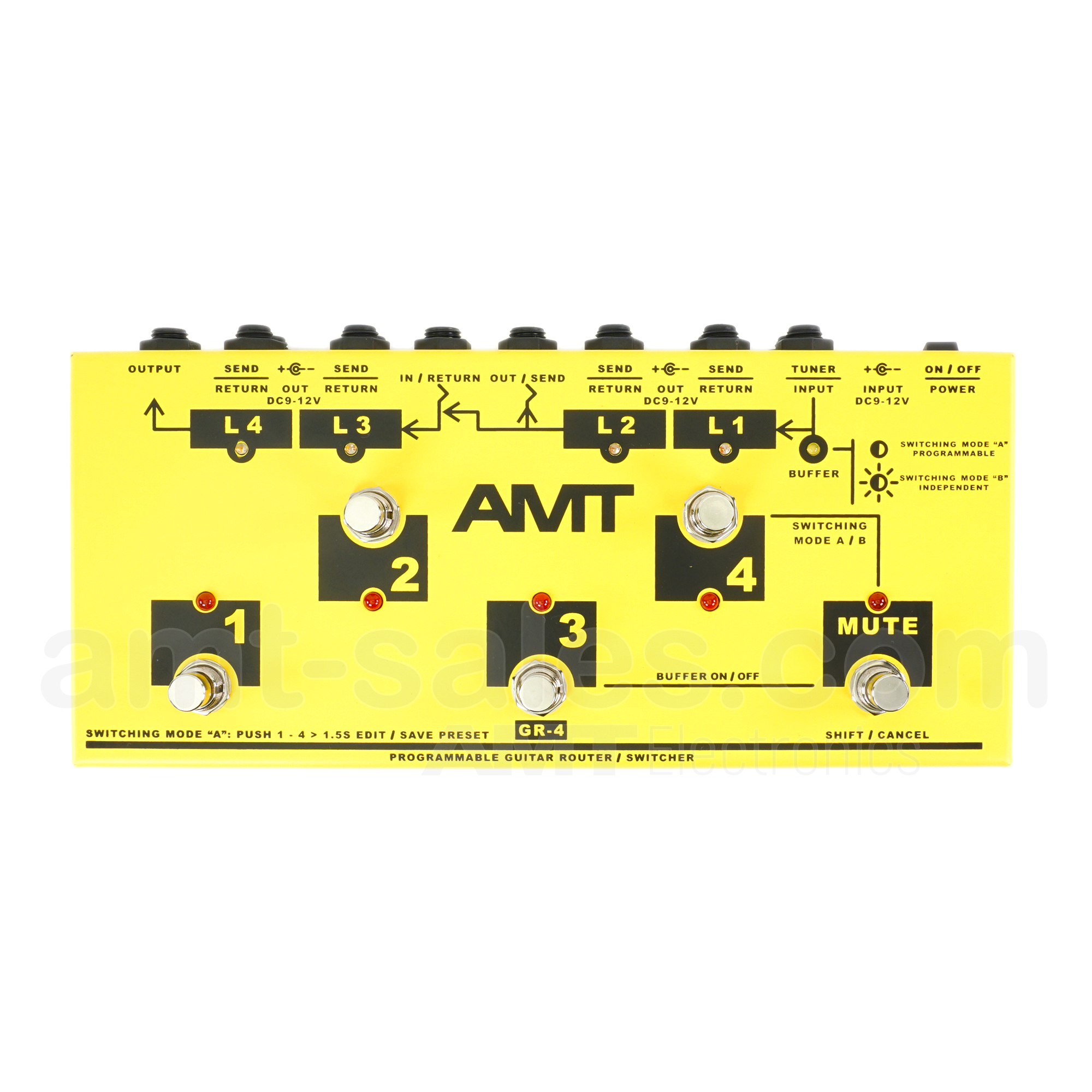 AMT GR-4 - programmable guitar switching system with 4 loops