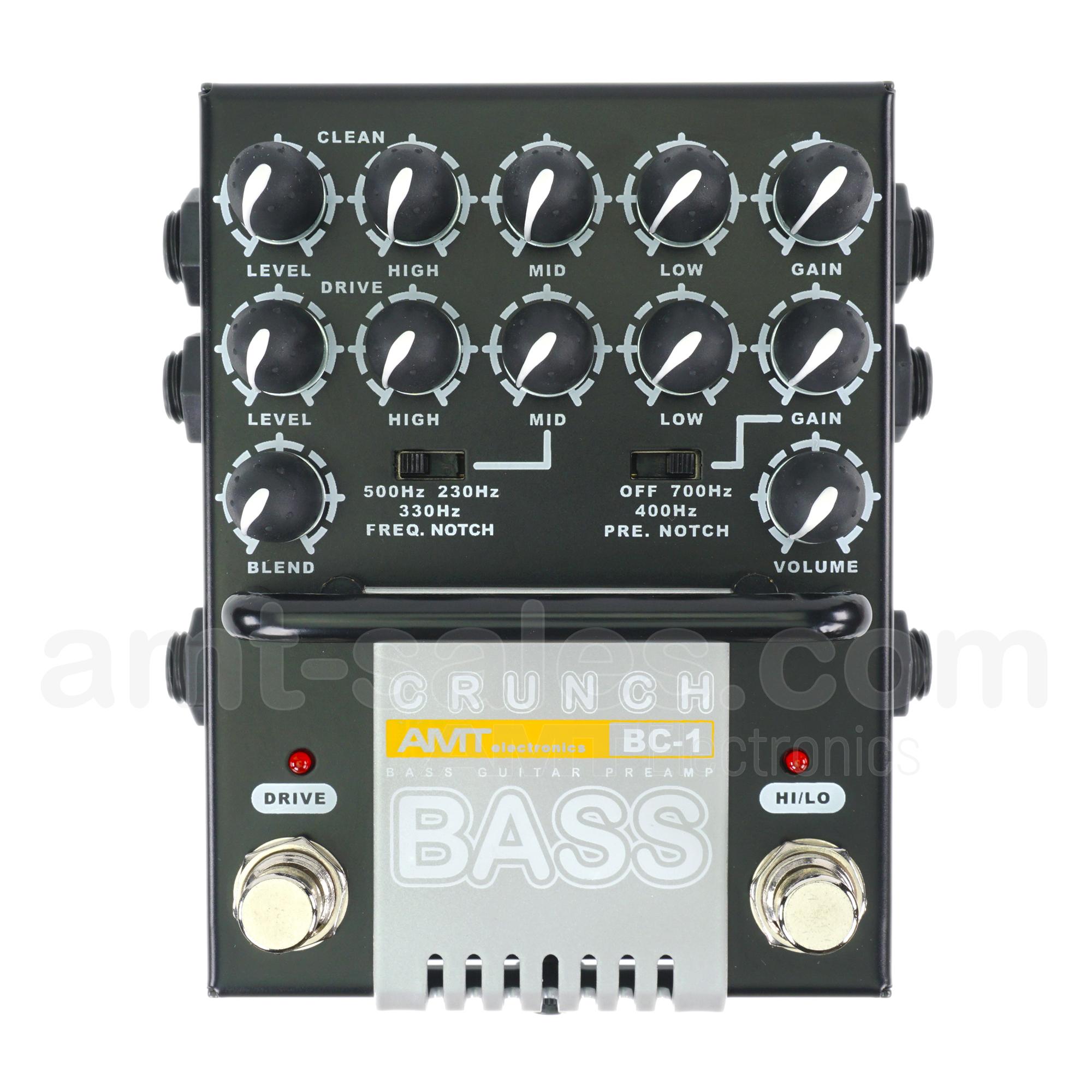 AMT Bass Crunch BC-1 - 2-channel JFET bass guitar preamp