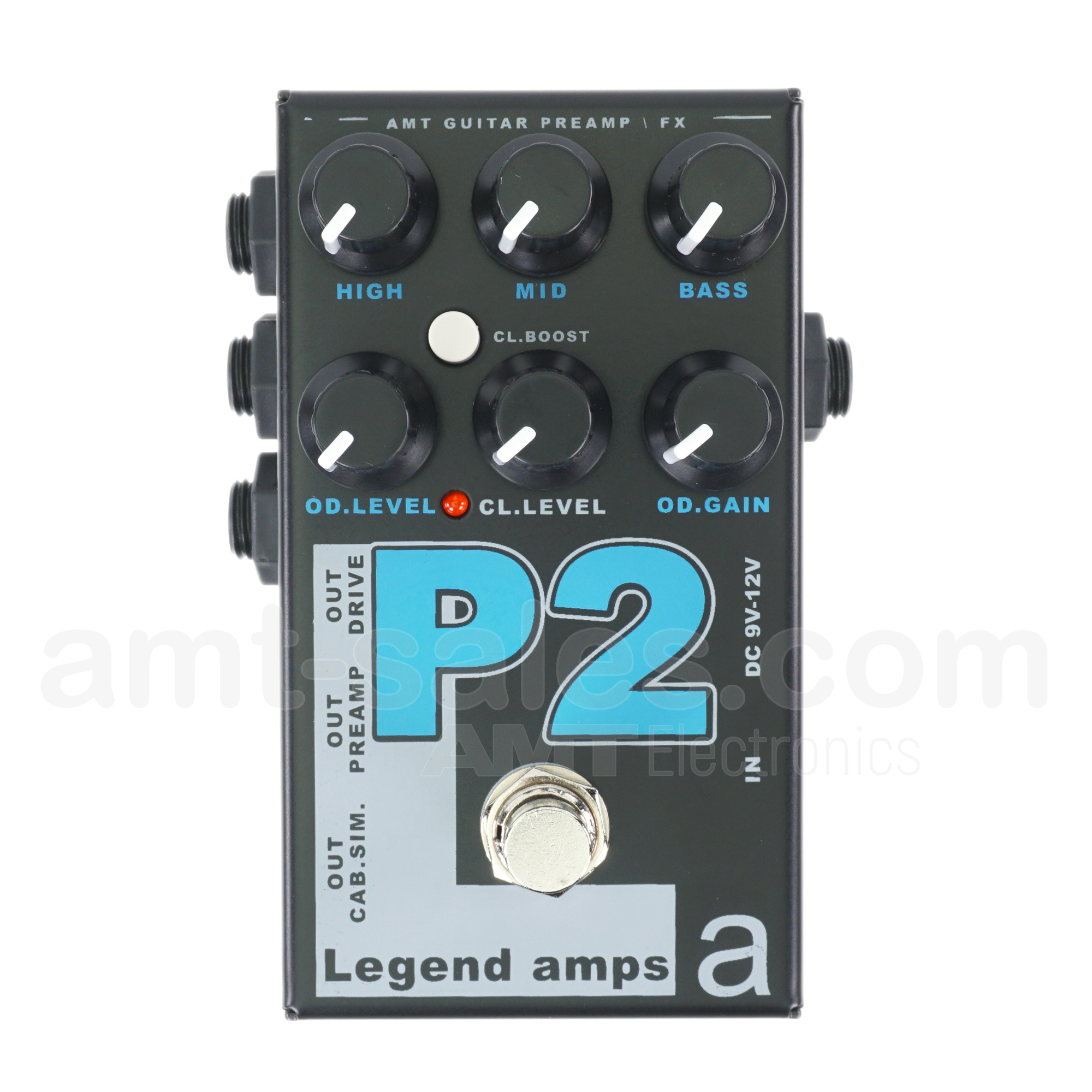 AMT P2 - 2 channels guitar preamp/distortion pedal (Peavey)