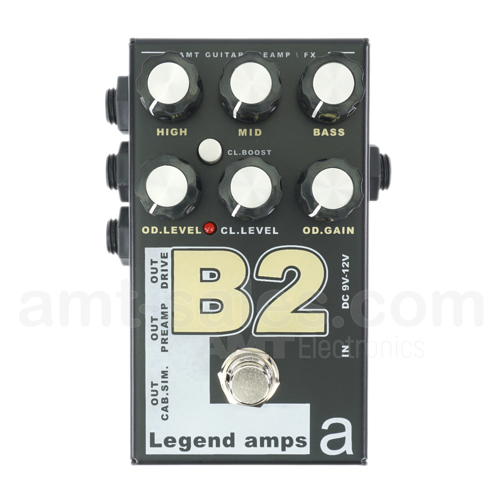 AMT B2 - 2 channels guitar preamp/distortion pedal (Bogner)