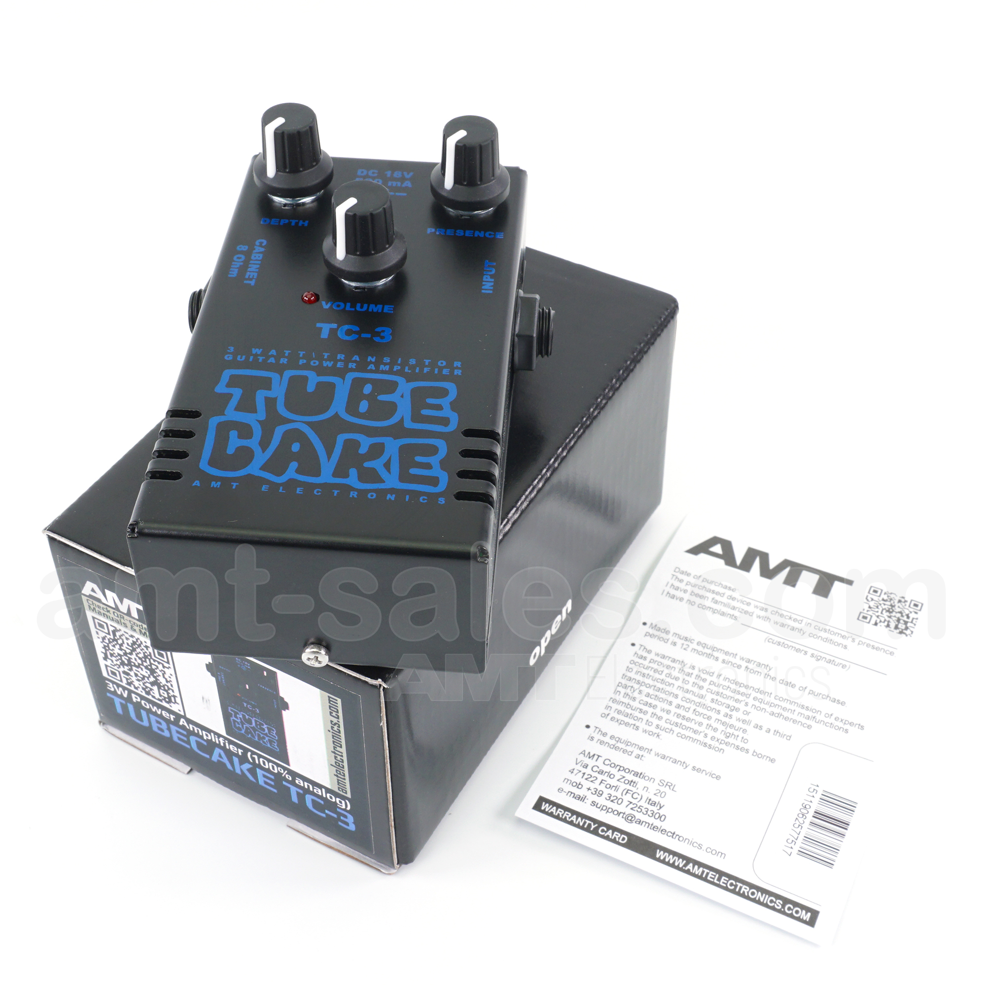 AMT Tubecake 3W - 3W Power Amplifier (100% analog)
