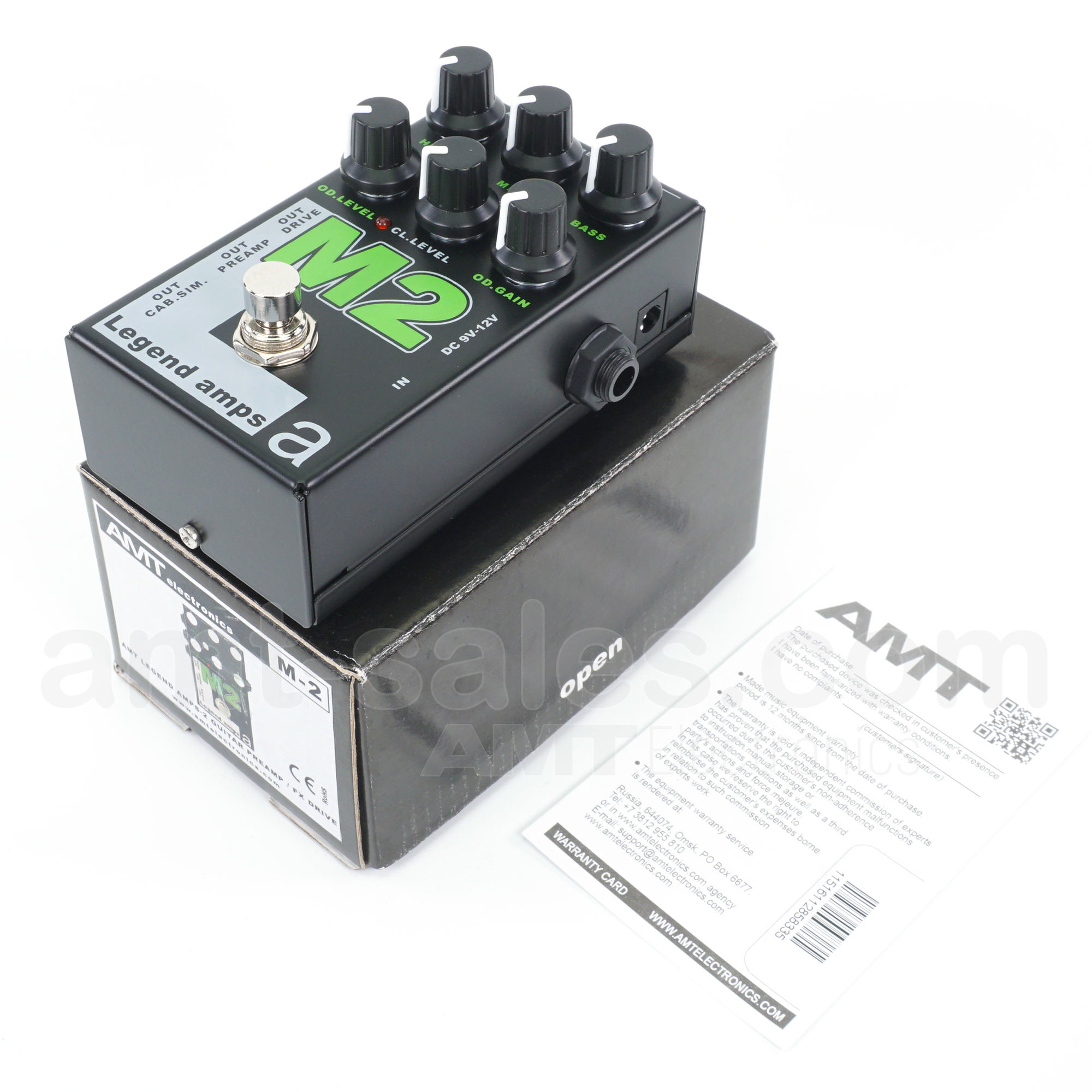 AMT M2 - 2 channels guitar preamp/distortion pedal (Marshall)
