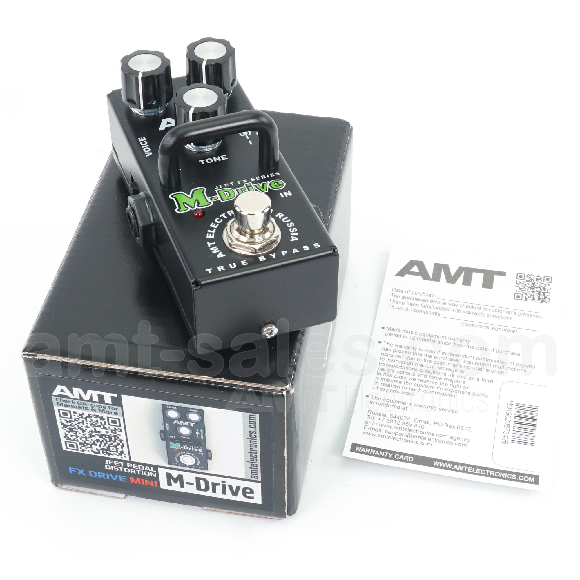 AMT M-Drive mini - JFET distortion pedal