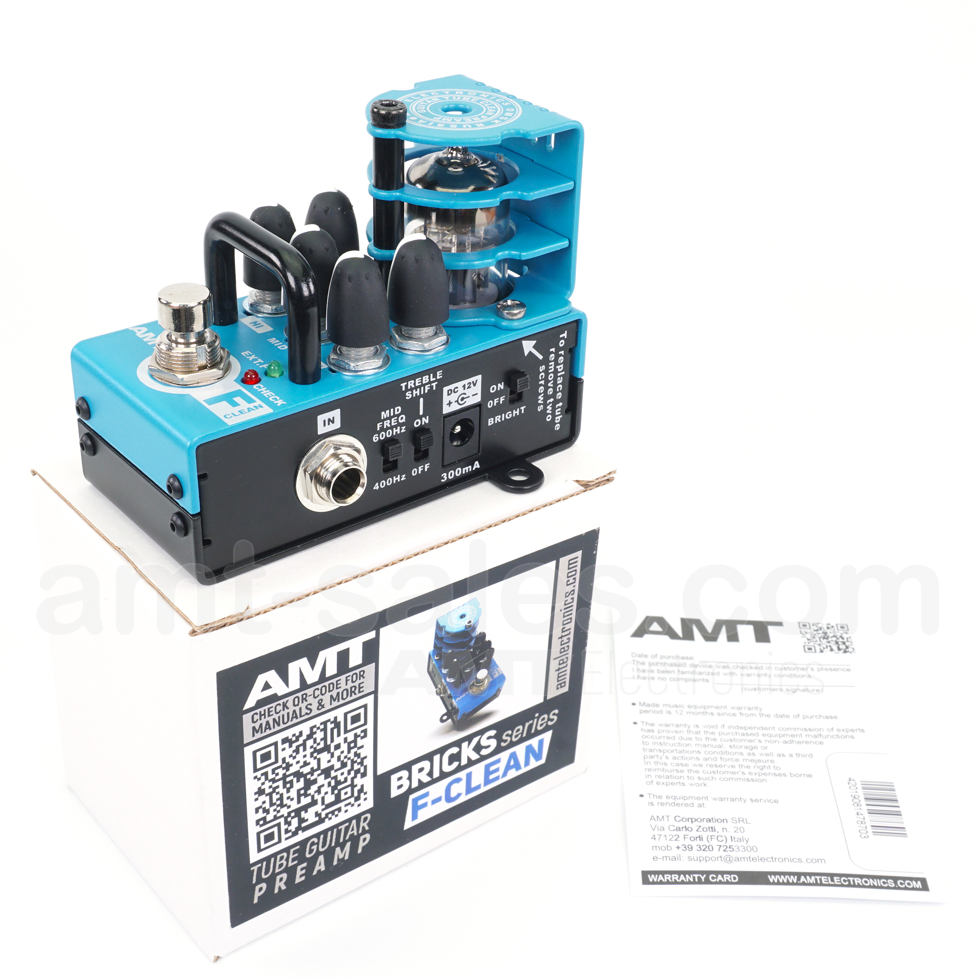 AMT Bricks F-Clean - 1 channel tube guitar preamp (Fender Twin)